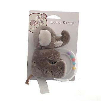 Elli & Raff Teether Rattle, Elephant