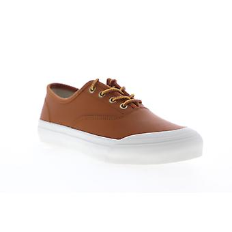 HUF Cromer  Mens Brown Leather Lace Up Athletic Skate Shoes