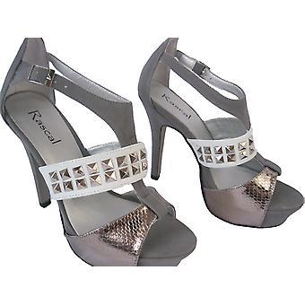 Rascal Cutaway Peeptoe Sandals Heels
