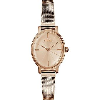 Timex Milano Oval Rose Gold-Tone Mesh Ladies Watch TW2R94300
