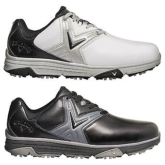 Callaway Golf Mens 2020 Chev Comfort Leather Waterproof Opti Vent Golf Shoes