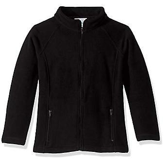 教室スクールユニフォームビッグガールズフィットポーラーフリースジャケット, ブラック, XL