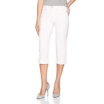 NYDJ Women's Marilyn Crop Cuff Jean, Bianco ottico, 10, Bianco ottico, Taglia 10.0