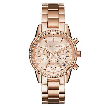Michael Kors Ladies' Ritz Watch - MK6357 - Rose Gold