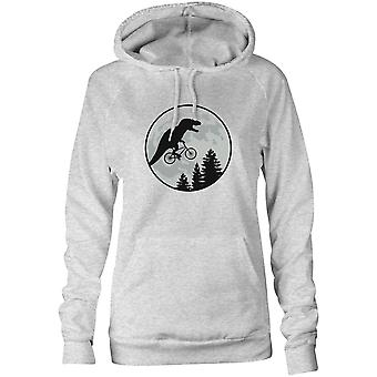 Womens Sweatshirts Hooded Hoodie- Crocodile's Cycling