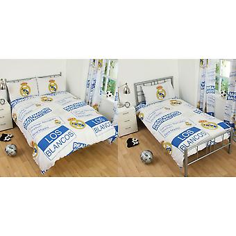 Real Madrid CF Childrens/Kids Official Patch Football Crest Duvet Set