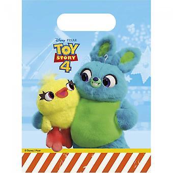 Toy Story 4 Party Taschen | Süßigkeiten Taschen | Fischstaubbeutel 6-Pack