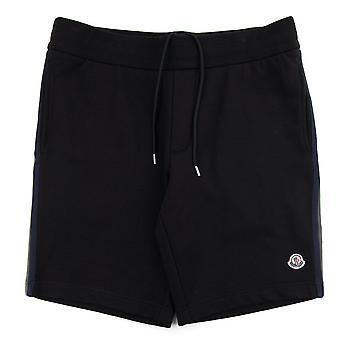 Moncler Bermuda Sweat Shorts W/ Bands Black 999