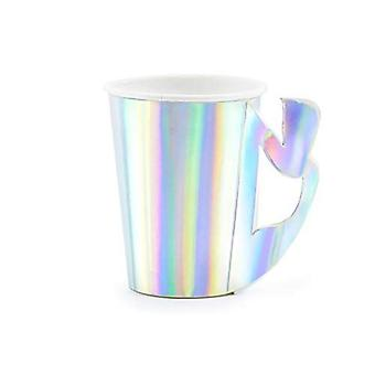 Iridescent Mermaid hârtie cupe Party x 6 Partyware