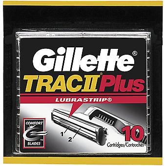 Gillette trac ii plus scheermes refill cartridges, 10 ea