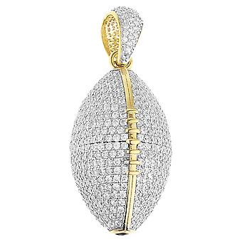 Prime Bling - 925 argent sterling adeptes de football 3D gd