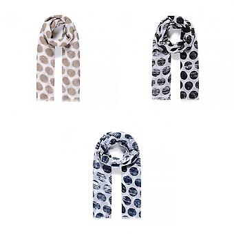 She Loves Gifts Womens/Ladies Faded Circle Print Embellished Scarf