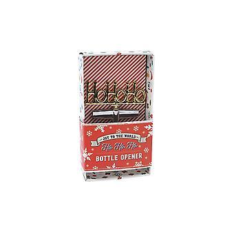 CGB Giftware Joy To The World Ho Ho Ho Christmas Bottle Opener