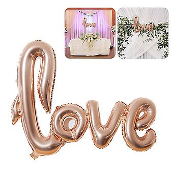 Inflatable Golden Rose Love Foil Balloon Banner Text Letter Balloons LOVE Valentines Day Weddings Parties Decoration