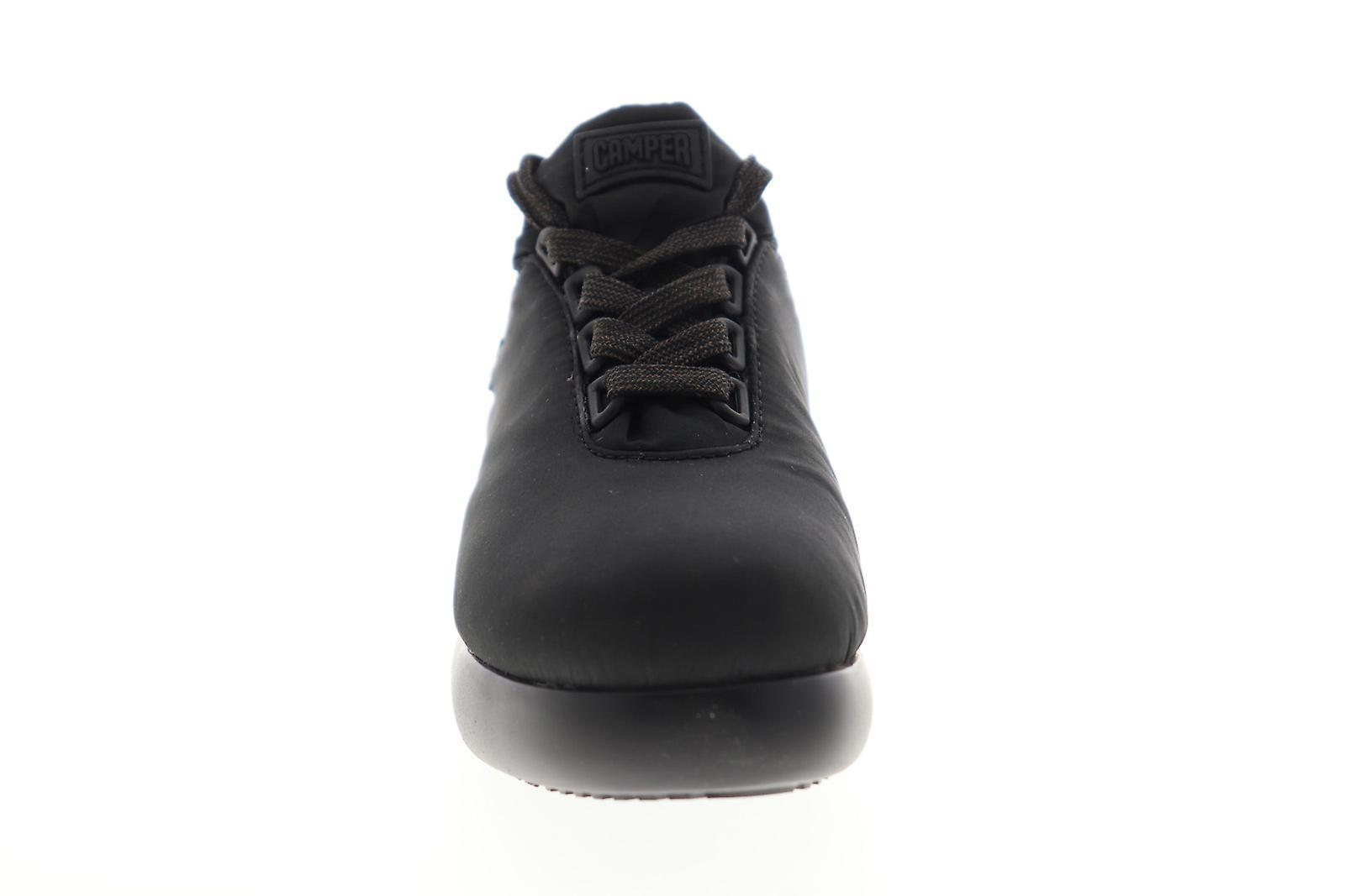 Camper Fiss Dame Sort Lærred Lace Up Low Top Sneakers Sko