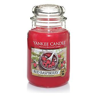 Yankee kaars klassieke grote pot rode framboos kaars 623g
