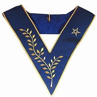 Masonic collar - aasr - thrice powerful master - machine embroidery