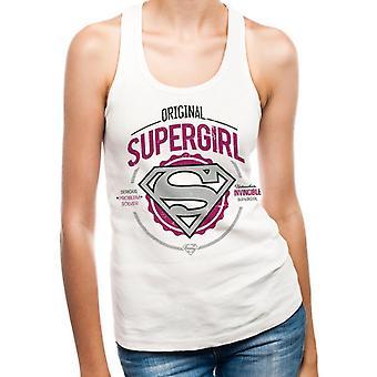 Supergirl - Original Women's Fitted Vest White
