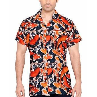 Club cubana men's regular fit classic short sleeve casual shirt ccd30