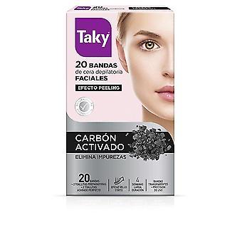 Taky Carbon Activado Bandas Cera Faciales Depilatorias 20 Uds For Women