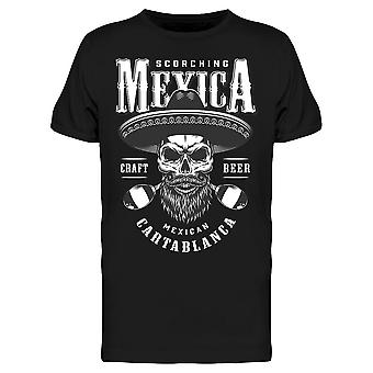 Meksikon Cartablanca Skull Maraca Tee Men's -Kuva Shutterstock