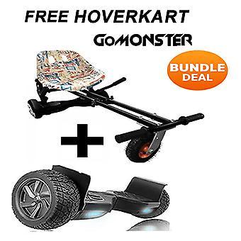 Graffiti Suspension Hoverkart med 8,5& Black All Terrain Bluetooth Segway Hoverboard
