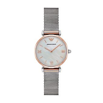 Armani Watches Ar2067 Armani Sliver And Rose Gold Mother Of Pearl Ladies Watch