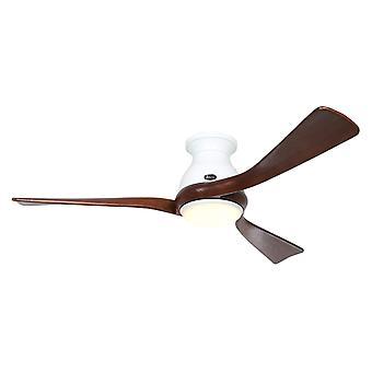 Ventilateur de plafond DC Eco Regento Blanc / Noyer avec LED