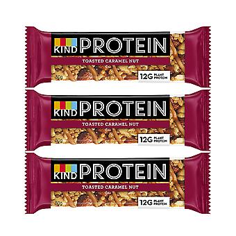 12 x 50g Kind Protein Gluten Free Bars Caramel Energy Nutritious Healthy