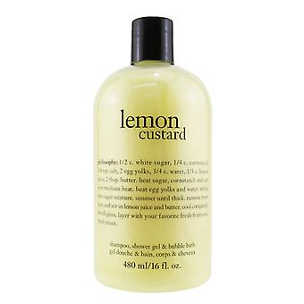 Citron custard Shampoo Shower Gel & og Boblebad - 480ml/16oz