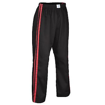 Kids bytomic Stripe Double Contact Pant noir/rouge