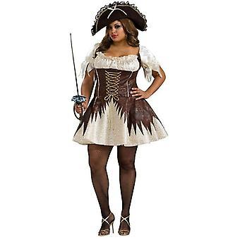 Piraten-Kostüm braun Plus