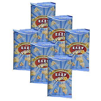 6 x 85g Easy Pop gesalzen Mikrowelle Popcorn Vegeterian Snack Essen