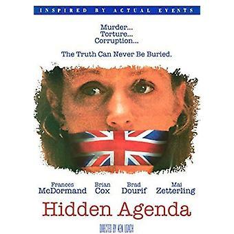 Importazione di Hidden Agenda [DVD] Stati Uniti d'America
