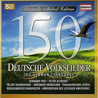 Traditional - 150 Deutsche Volkslieder (150 German Folksongs) [CD] USA import