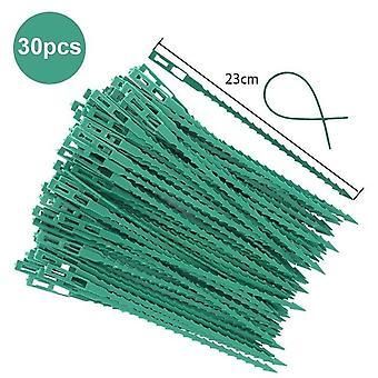 50/30 Stk Fiskeben Anspore grønne landskab genanvendelige Have Plastic Plante Bælte Slips Tie Garden Fiskeben Band