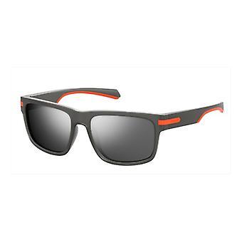Polaroid PLD2066/S RIW/EX Matte Grey/Polarised Grey-Silver Mirror ** Sunglasses