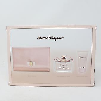 Salvatore Ferragamo Signorina 3 Pcs Gift Set  / New With Box
