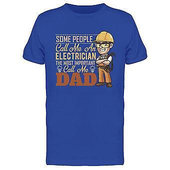 Vissa Call Me Electrician Tee Men & apos; s -Bild av Shutterstock
