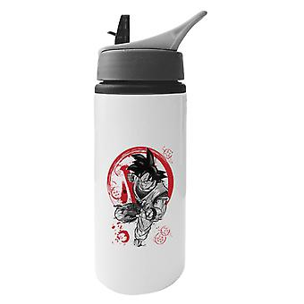 Kakarot Male Saiyan Dragon Ball Z Aluminium Water Bottle With Straw