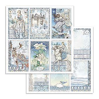 Stamperia Winter Tales Kort 12x12 Tums Pappersark (10st) (SBB722)