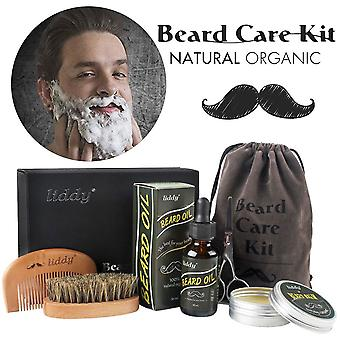 Premium Beard Grooming Kit All Natural Oil Boar Bristle Brush Beard Styling Comb