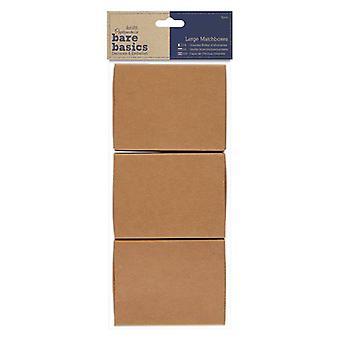 Papermania Bare Basics Grandes Caixas de Fósforos Grandes (3 pcs) (PMA 174653)
