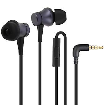 Original Xiaomi Dual Driver Wired Headphones with 3.5mm Remote Control - Black