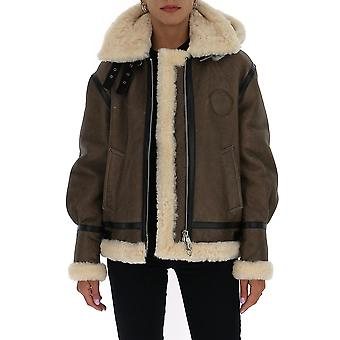 Chloé Chc20acv87210233 Women's Brown Suede Outerwear Jacket