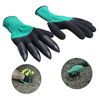 Outdoor Garden ABS Waterproof Gloves with Claws - Garden Rubber Gloves Gardening Digging Planting Durable Work Glove