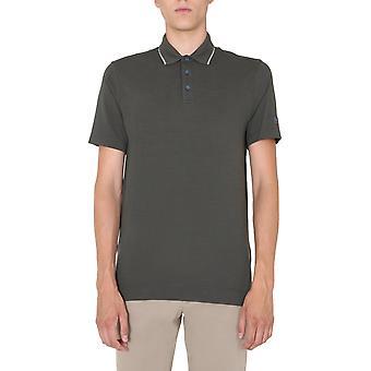 Z Zegna Vv394zzt610v08 Männer's grüne Wolle Polo Shirt