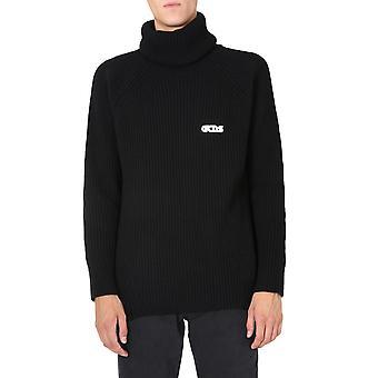 Gcds Fw21m02001602 Men's Black Wool Sweater