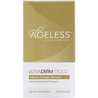 Ageless Foundation Laboratories, UltraDerm Gold, Natural Collagen Booster with P