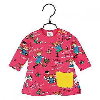 Pippi Longstocking Quotes Baby Dress (Raspberry)
